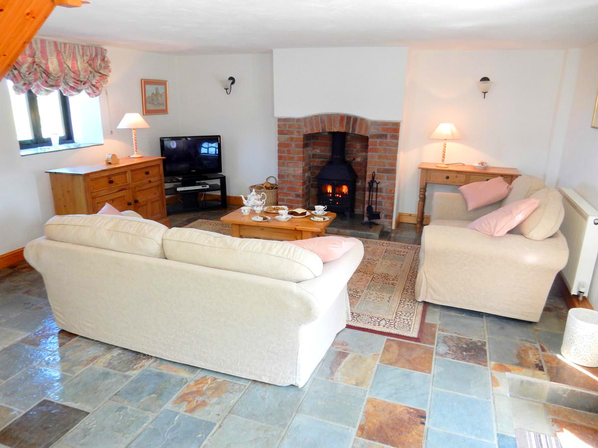 The Lounge Area in Clematis. Clematis is a one bedroom Holiday Cottage in Devon   Downe Holiday