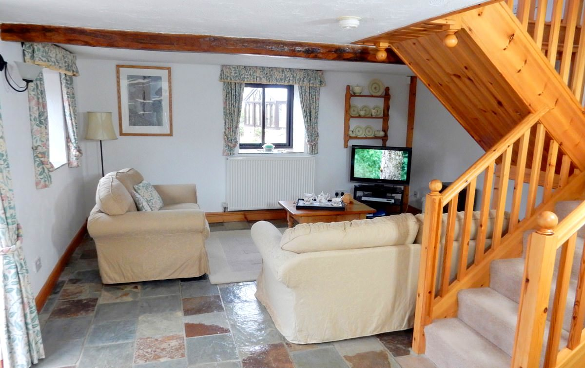 The Lounge Area in Japonica. Japonica is an idyllic one bedroom holiday cottage in North Devon