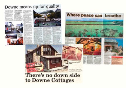 Some press cutting about Downe Cottages